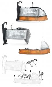 Headlights and Parklights
