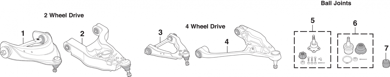 Control Arms and Ball Joints
