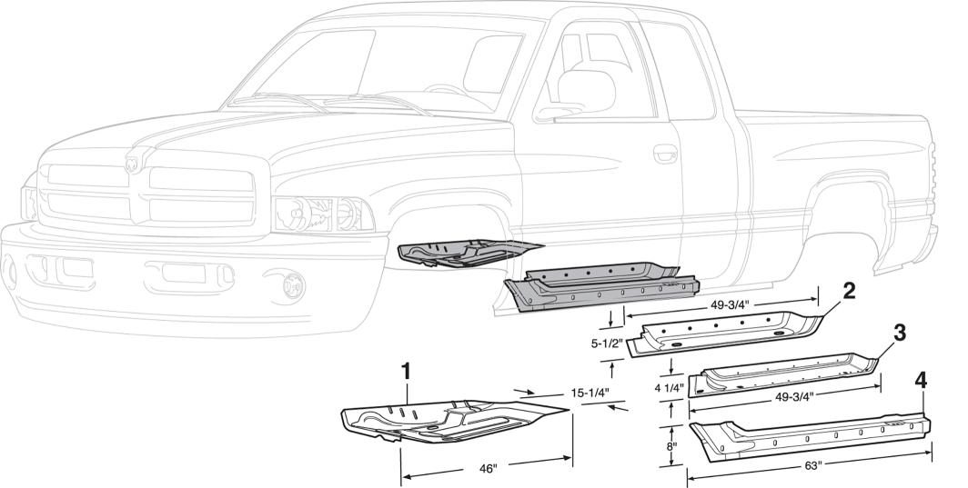 Interior Steel Body Parts