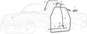 Quad Cab Door Weatherstrip