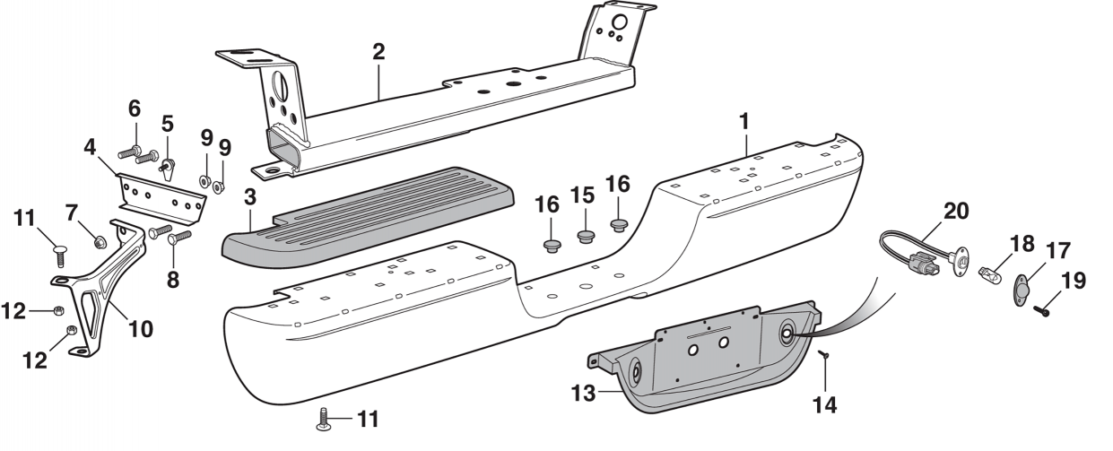 Rear Step Bumper and Components