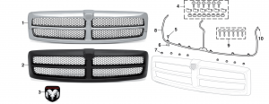 Grilles and Components - Models with Sport Package