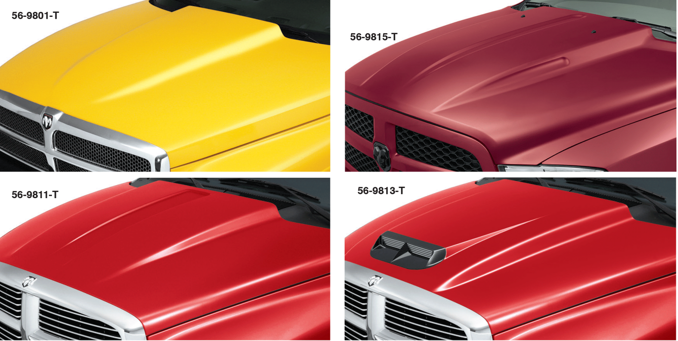 Cowl Induction Steel Hoods Give Your Truck A High Performance Look