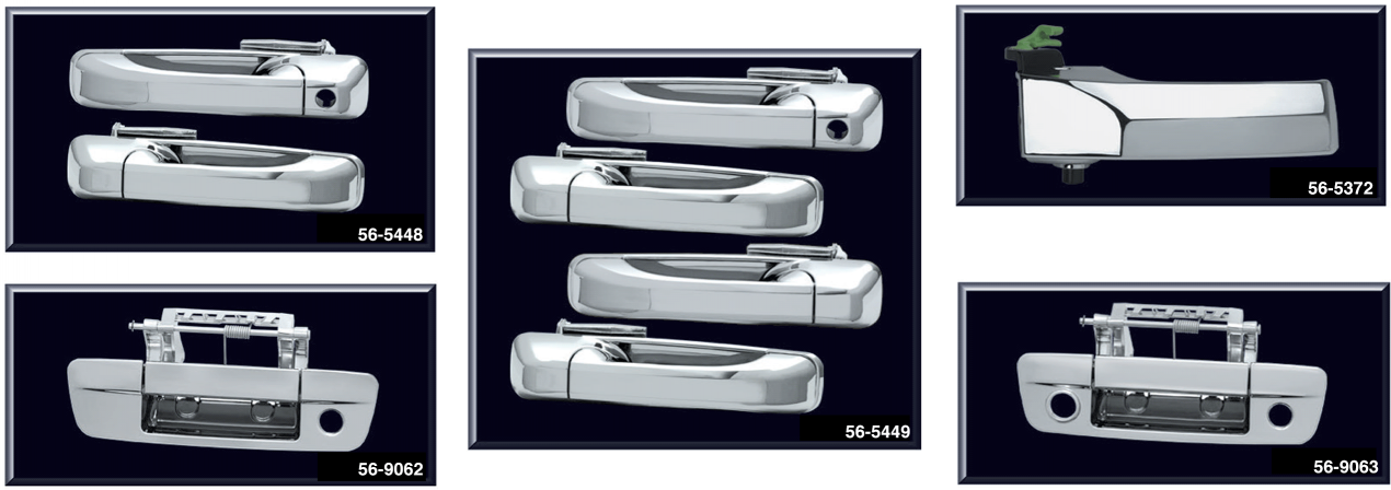 Chrome Door and Tailgate Handles