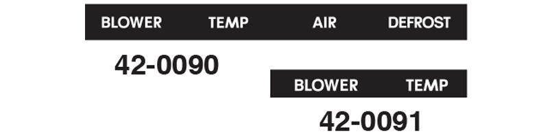 Heater Panel Decals