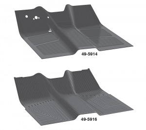 Rubber Floor Mats are One Piece Replacements for OE Mats