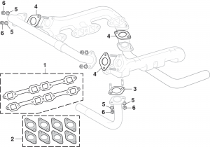 Manifold Components with V8 Engine