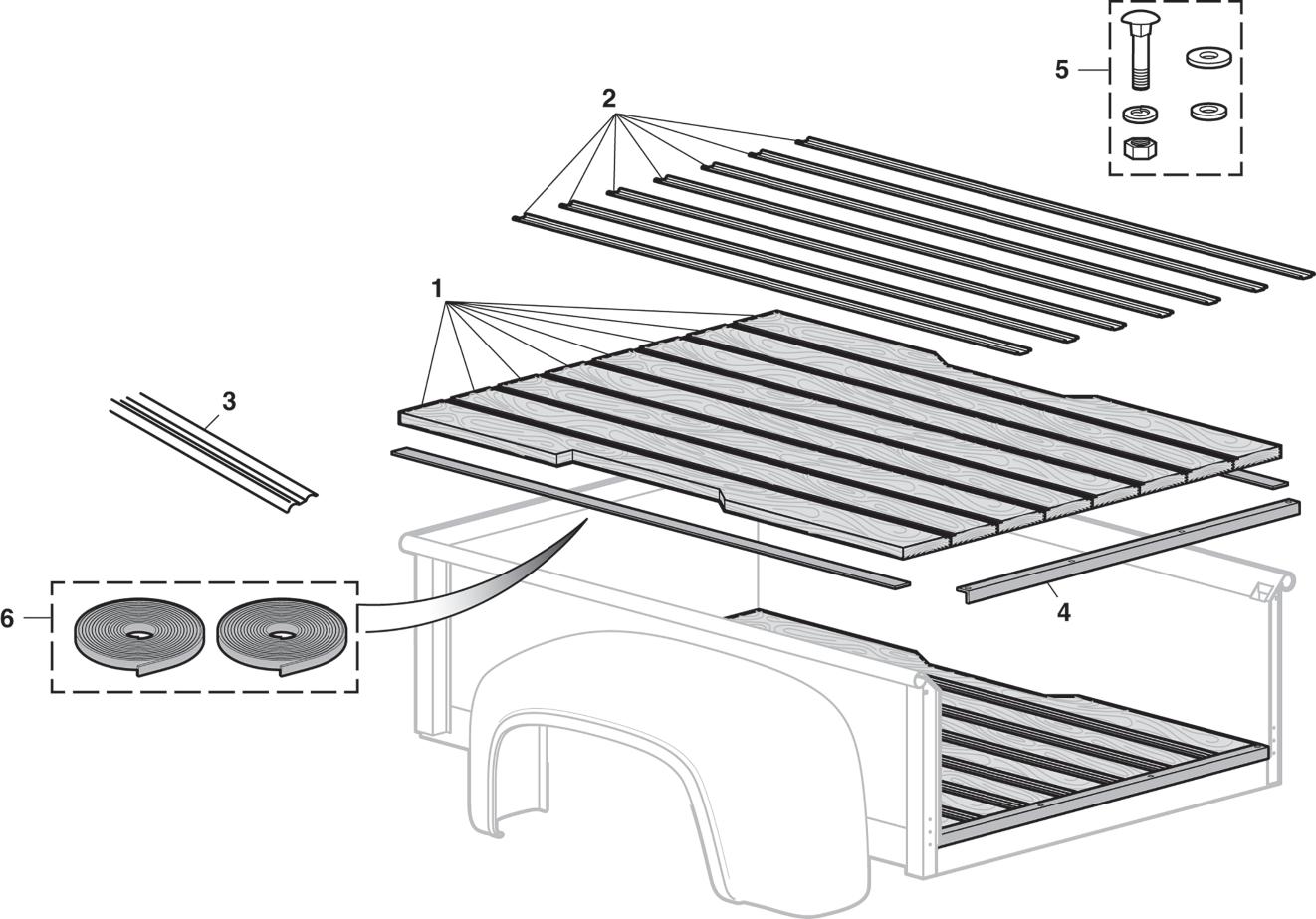 Stepside Bed Wood Kits