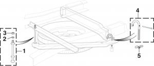 Under-Bed Spare Wheel Carrier