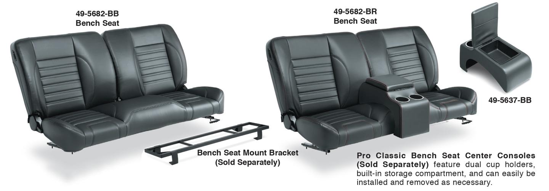 Split Bench Seat Center Console