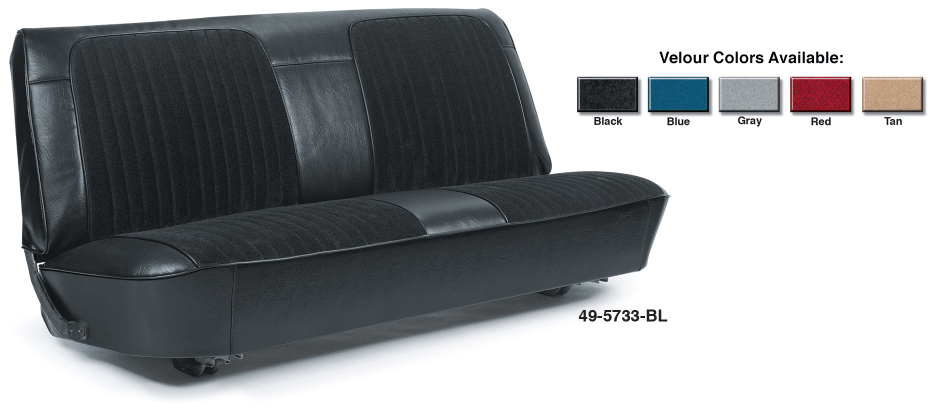 Original Style Velour Bench Seat Reupholstery Kits