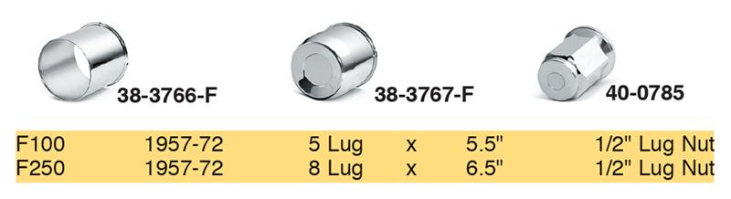 Chrome Center Caps andLug Nuts