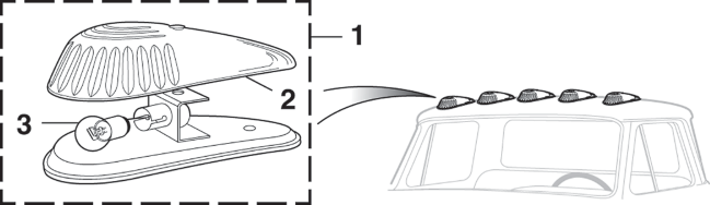 Roof Marker Lamp Components