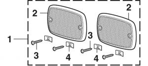 Front Fender Reflector