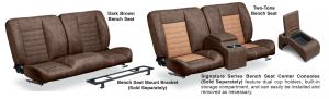 LMC Signature Series Bench Seat Set & Center Console