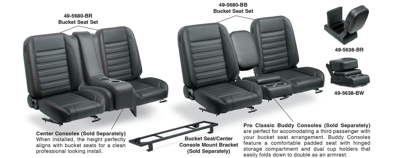 Bucket Seat Set & Center Console