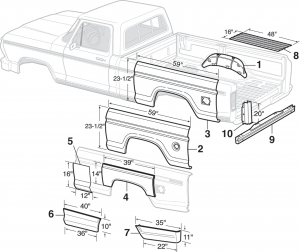 Lmc Truck Bed And Tailgate Components