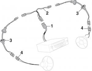 Door Speaker Wires - OE Style