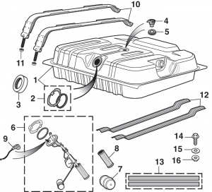 Rear-Mount Gas Tank and Parts