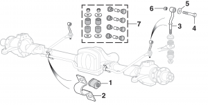 Front and Rear Sway Bar Components