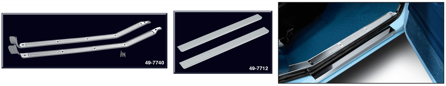 Aluminum Door Sill Plate Set and Stainless Steel Threshold Plate Set
