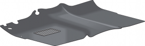 Rubber Front Floor Mats are One Piece Replacements for OE Mats