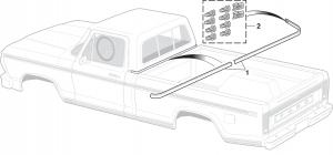 Cab Back Belt Molding