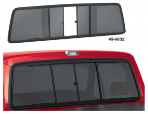 Sliding Rear Windows ... Easy Single Hand Access