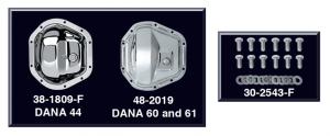 Chrome Differential Cover DANA 44, DANA 60 & 61 10 Bolt with 9-3/4
