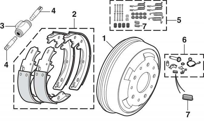 Front Drum Brakes - 4 Wheel Drive