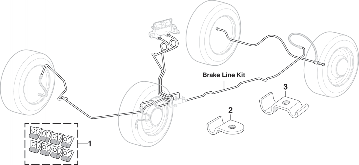 Pre-Bent Stainless Steel Brake Line Kits