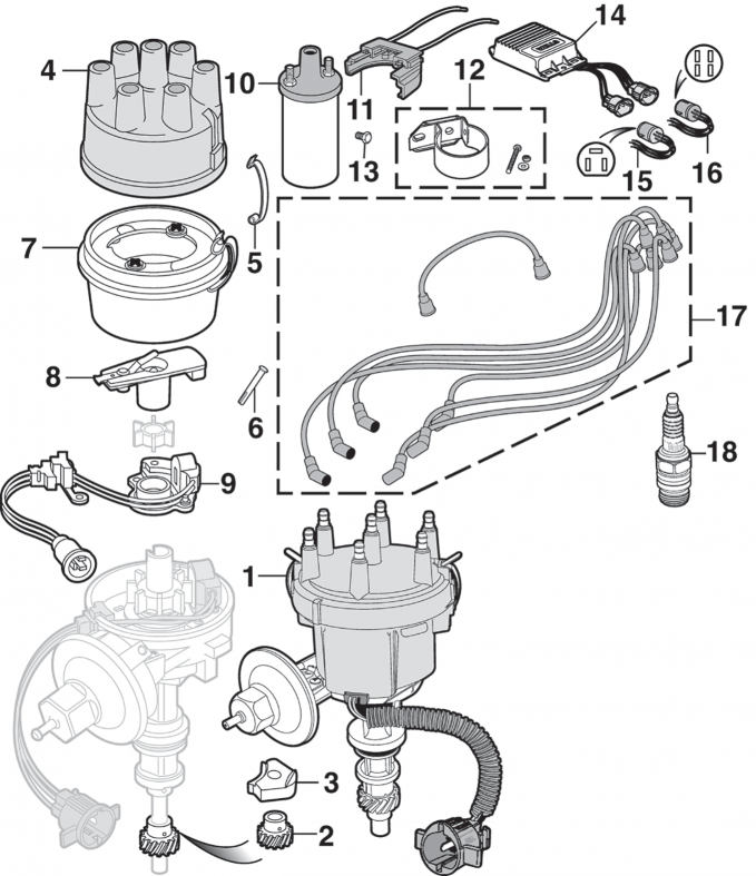 Electronic Ignition Components - 6 Cylinder