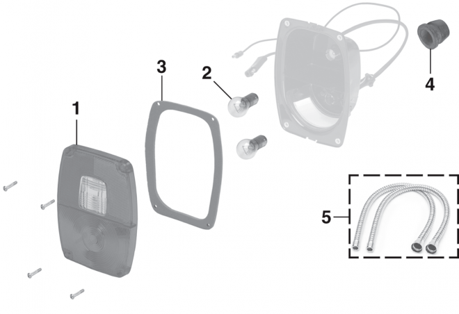Stepside Tail Light Components