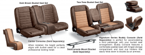 LMC Signature Series Bucket Seat Sets & Center Consoles