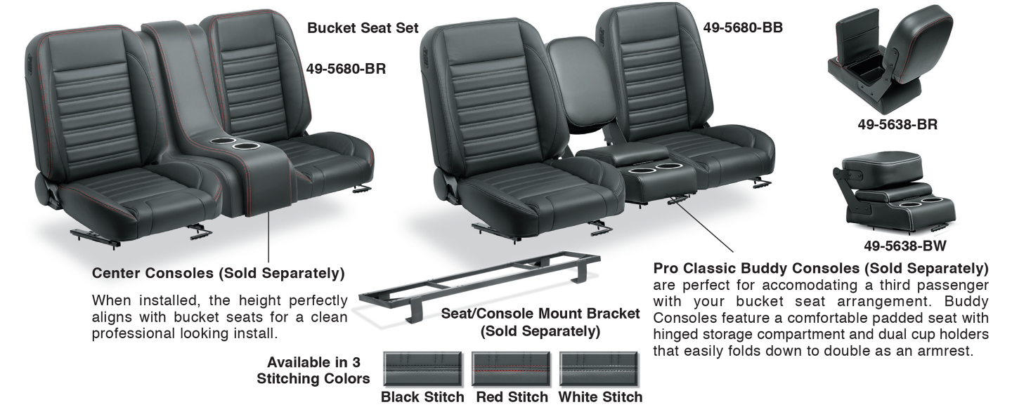 Bucket Seat Set & Center Consoles