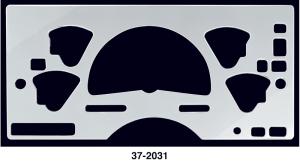 Polished Billet Style Instrument Cluster Cover