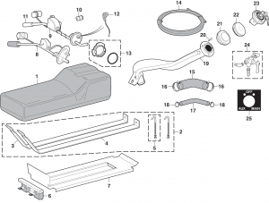 Auxiliary Gas Tank Components