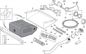 Rear Gas Tank Components