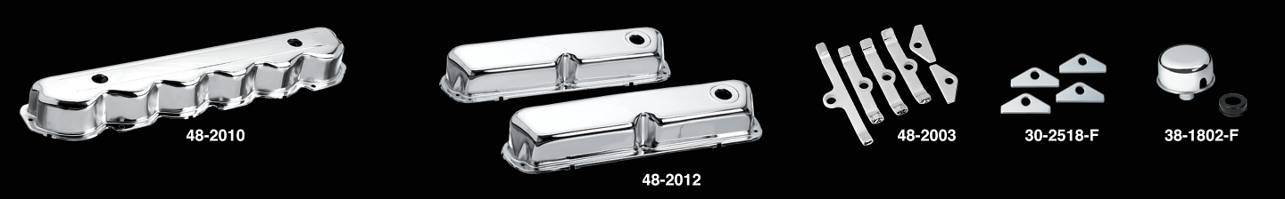 Chrome Valve Covers and Components