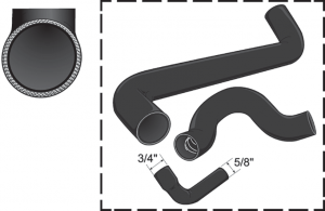 Black Silicone Radiator Hose Set
