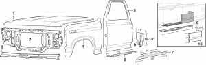 Front Steel Body Parts