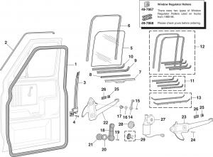 Door Glass and Components