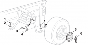 Spare Tire Carrier Components - Bed Mounted