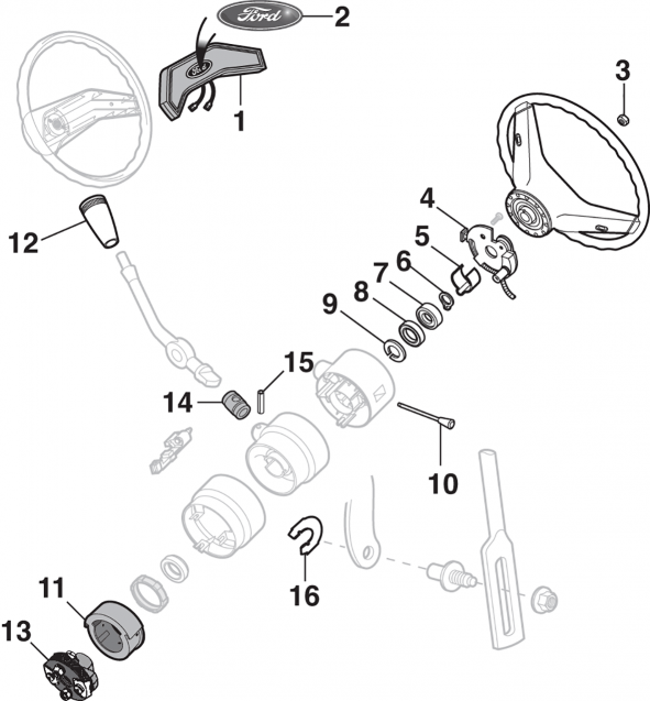 1988 Ford F150 Steering Column Diagram Wiring Diagram View A View A Zaafran It