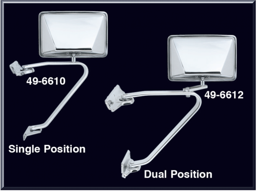 Reproduction Stainless Steel Door Mirrors