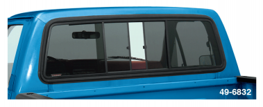 Sliding Rear Window ... Easy Single Hand Access