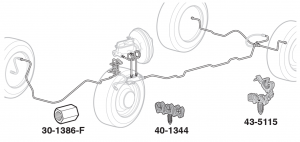 Pre-Bent Stainless Steel Brake Line Sets