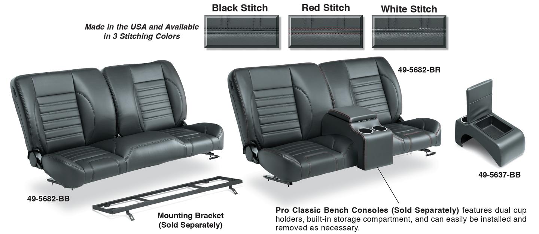 Split Bench Seat & Center Console