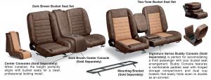 LMC Signature Series Bucket Seat Sets & Center Console