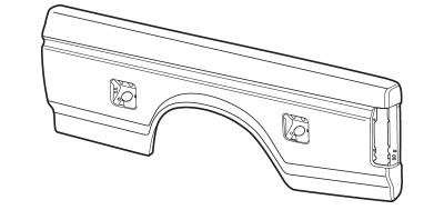 1987-96 Bedside Skin With Dual Fuel Filler